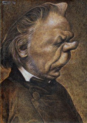 © HONORÉ DAUMIER by/por WALTER TOSCANO  Traditional media