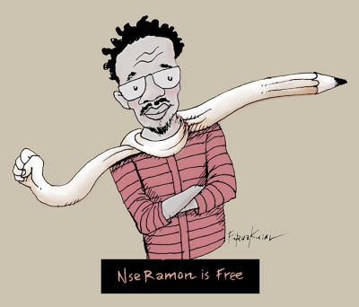 We are very happy that cartoonist Nse Ramon is a free person now :D