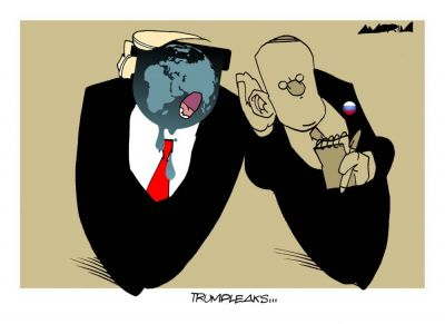 Trumpleaks... www.amorimcartoons.com.br