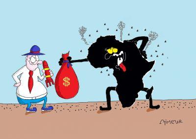Cartoon for the 1 International Cartoon Contest Marocco 2017