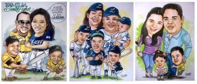 Caricaturas familiares.