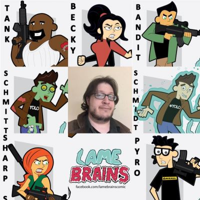 more of the cast (and cartoonist)