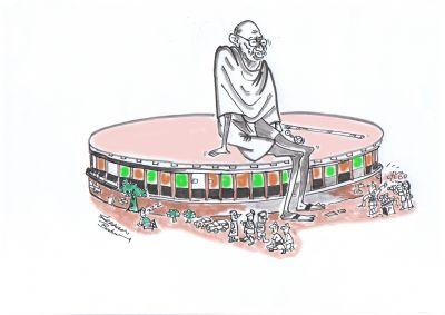 Is this Gandhiji's dream spirit of elected parliamentarians ??